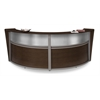 OFM Double-Unit Marque Plexi-Reception Station, Walnut