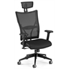 OFM Talisto Series Executive High-Back Leather Seat/Mesh Back Chair, Black