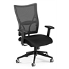 Talisto Series Executive Mid-Back Fabric Seat/Mesh Back Chair, Black