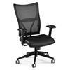 OFM Talisto Series Executive Mid-Back Leather Seat/Mesh Back Chair, Black