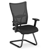 OFM Talisto Series Executive Leather Seat/Mesh Back Guest Chair, Black