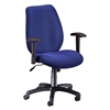 Ergonomic Manager's Chair, Ocean Blue