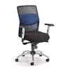 AirFlo Series Executive Task Chair with Silver Accents, Blue Mesh