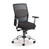 OFM AirFlo Series Executive Task Chair with Silver Accents, Gray Mesh