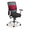 OFM AirFlo Series Executive Task Chair with Silver Accents, Burgundy Mesh