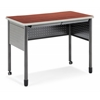 "OFM Mesa Series Standing Height Training Table/Desk with Drawers 27.75"" x 47.25"", Cherry"