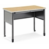 "Mesa Series Standing Height Training Table/Desk with Drawers 27.75"" x 47.25"", Oak"
