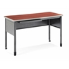 "OFM Mesa Series Standing Height Training Table/Desk with Drawers 27.75"" x 55.25"", Cherry"