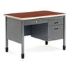 OFM Single Pedestal Sales Desk 26.75 x 42.25, Cherry