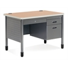 OFM Single Pedestal Sales Desk 26.75 x 42.25, Maple