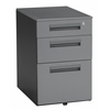 "OFM Mobile File Pedestal with 3 Drawers 15.50"" x 23"", Gray"