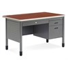 Mesa Series Single Pedestal Teacher's Desk with Center Drawer 30 x 48, Cherry