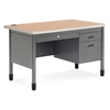 Mesa Series Single Pedestal Teacher's Desk with Center Drawer 30 x 48, Maple