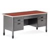 OFM Double Pedestal Teacher's Desk, Cherry