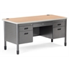 OFM Double Pedestal Teacher's Desk, Maple