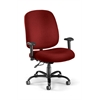 OFM Big & Tall Task Chair with Arms, Wine