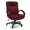 OFM Big & Tall Executive Mid-Back Chair, Burgundy