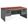 OFM Executive Series Double Pedestal Panel End Desk 29.50 x 57.25, Cherry