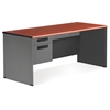 OFM Executive Series Single Pedestal Panel End Desk 29.25 x 67, Cherry