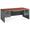 OFM Executive Series Double Pedestal Panel End Executive Desk 36.25 x 72, Cherry