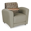 OFM InterPlay Series Single Seat Tablet Chair, Plum, Taupe, Bronze Tablet