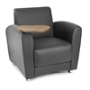 InterPlay Series Single Seat Tablet Chair, Nickel, Black, Bronze Tablet
