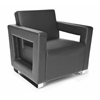 Distinct Series Soft Seating Lounge Chair, Black