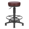 OFM Anti-Microbial/Anti-Bacterial Vinyl Utilistool with Drafting Kit, Wine