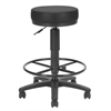 OFM Anti-Microbial/Anti-Bacterial Vinyl Utilistool with Drafting Kit, Black
