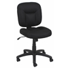 Essentials by OFM Swivel Upholstered Armless Task Chair, Black