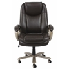 Essentials by OFM Big and Tall Leather Executive Office Chair with Arms, Brown/Bronze