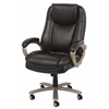 Big and Tall Leather Executive Office Chair with Arms, Brown/Bronze