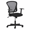 Essentials by Swivel Mesh Task Chair with Arms, Black