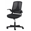 Mesh Upholstered Flip-Arm Task Chair
