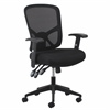 3-Paddle Ergonomic High-Back Mesh Task Chair with Arms and Lumbar Support, Black