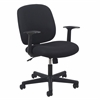 OFM Essentials by OFM Swivel Upholstered Task Chair with Arms, Black