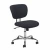 Swivel Upholstered Armless Task Chair, Black/Chrome