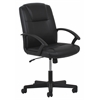 OFM Essentials by OFM Ergonomic Leather Executive Office Chair with Arms, Black