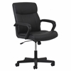 Leather Executive Office Chair with Arms, Black