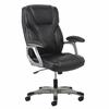 OFM Essentials by OFM Ergonomic High-Back Leather Executive Office Chair with Arms, Black/Silver or Brown/Silver