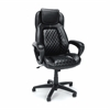 High-Back Racing Style Leather Executive Office Chair, Black