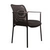 Mesh Upholstered Stacking Side Chair with Arms