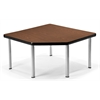 OFM Corner Table with 5 Legs, Mahogany