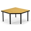 OFM Corner Table with 5 Legs, Oak