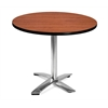 OFM 36 Round Flip-Top Multi-Purpose Table, Cherry