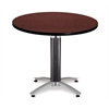 OFM 36 Round Mesh Base Multi-Purpose Table, Mahogany