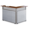 48 x 37 L-Shaped Reception Station, Gray, Cherry Top