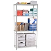 OFM Heavy Duty 4 Shelf Storage Unit 36 x 72 x 18, Silver