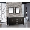 "MTD Vanities Monaco 71"" Double Sink Bathroom Vanity Set, Espresso"