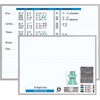 "Magna Visual 3 Character Set Magnetic Planner Kit - 48"" x 36"" - Porcelain"